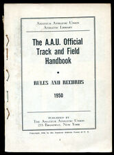 1950 AAU Official Track and Field Handbook No Cover