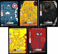 MARVEL MASTERPIECES 2007 SERIES 1 SUBCASTS SET (5)