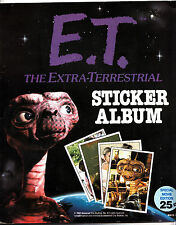 1982 E.T. The EXTRA-TERRESTRIAL STICKER ALBUM -32/120  1982 (TOPPS)
