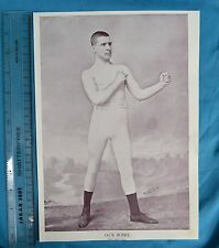 Original 1894 Antique Print Portrait Gallery Of Pugilists Jack Burke Boxer