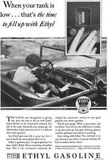 Ethyl 1929 - Ethyl Gasoline Ad - When your tank is low… that's the time to ful