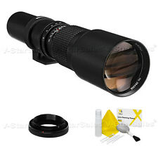 Bower 500mm F8 Preset Telephoto Lens for Nikon Cameras