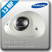 G0 Samsung SND-5010 HD Network Flat CCTV CAMERA H.264 PoE DOME 1.3MP Security