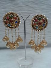 Women Gold Plated Indian Bollywood Vintage Ethnic Bridal Fashion Jhumka Earring
