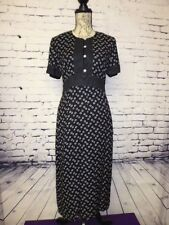 VINTAGE 80'S DOES 40'S CUTE SPOTTY TEA DRESS SIZE 8  GOODWOOD DOWNTON ABBY