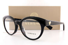 Brand New VERSACE Eyeglasses Frames 3217 GB1 BLACK Women 100% Authentic SZ 53