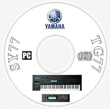 Yamaha SY-77 TG-77 Sounds Patches Manual MIDI Software & Editors CD - SY77 TG77
