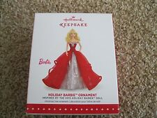 2015 Hallmark Ornament Holiday Barbie Ornament - Blond -  1st in Series New