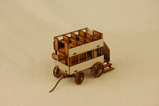 Gas Lamp Alley HORSE DRAWN BUS MDF & Card 28mm G056