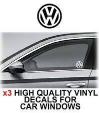 3 x VOLKSWAGEN VW Logo Window Sticker Decal Graphics