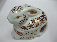 JAPANESE IMARI HANDGILDED RABBIT TRINKET BOX FIGURE (93) -BNIB- RRP £31.95