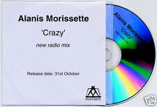ALANIS MORISSETTE Crazy New Radio Mix UK 1-track promo test CD