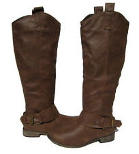 New Women's Knee High Light Brown Riding Boots winter snow Ladies size 8.5