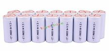14x Sub C SubC With Tab 6000mAh 1.2V Ni-MH Rechargeable Battery White High Power