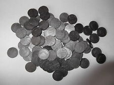 Maths for school  - 100 plastic 5p COINS - Sterling design play money -  NEW
