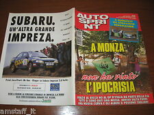 AUTOSPRINT 1994/33=GP F.1 UNGHERIA=MICHAEL SCHUMACHER=AGHINI RALLY MADEIRA=