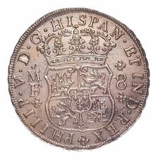 1739 8 REALES SUNKEN TREASURE FROM THE HOLLANDIA WITH COA  #155-530