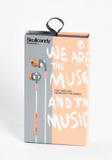 Skullcandy Bombshell In-Ear Buds Headphones w/Mic+Remote Headset Navy/Coral