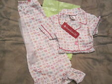 American Girl BITTY BABY  BUGS AND BUTTERFLY PJ'S PAJAMAS FOR GIRLS SIZE LRG NIP