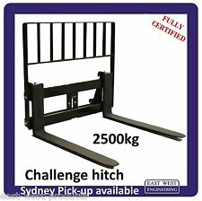 CHALLENGE STYLE QUICKHITCH PALLET FORKS  2500kg with LOADGUARD QCH25E certified