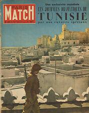 PARIS MATCH N°160 tunisie gilbert bozon max linder danielle godet