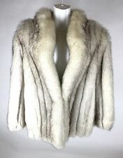 Blue Fox Fur Coat Authentic