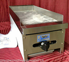 """NEW 12"""" Griddle Gas Flat Top Grill Stratus Commercial NSF SMG-12 #1049 Planchas"""