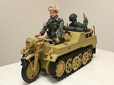 21st Century Ultimate Soldier GERMAN DAK KETTENKRAD Motorcyle WW2 Dragon Complet