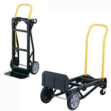 Dolly Hand Truck Portable Folding 2in1 Push Cart Moving Home Office Rolling
