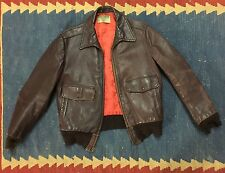 VINTAGE 1940s GENUINE CALIFORNIAN HORSEHIDE LEATHER A-2 BOMBER JACKET SIZE 36-38