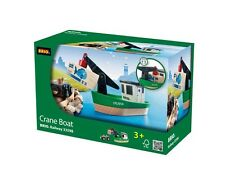 33598 BRIO Crane Boat Wooden Railway Train Accessories with Magnetic Connection!