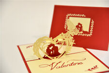 Handmade 3D Pop Up Love Valentine's Day Romantic Card