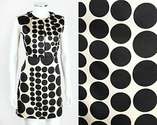 JILL STUART COLLECTION BEIGE BLACK POLKA DOT SATIN SLEEVELESS SHEATH DRESS SZ 0