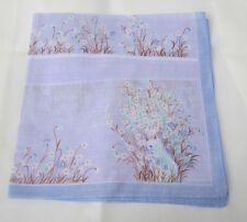 "Beautiful  Blue Sightseeing  Handkerchief /Furoshiki Size 16"" (Made in Japan)"