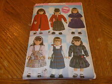 """Butterick Pattern B5587 ~ 18"""" Doll Clothes ~ (6) Outfits ~ Dresses, Cape & More"""