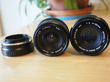 Minolta 50mm F2.0 & Cymko 28mm F2.8 Manual Focus Lenses adapted to SONY E mount