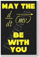 May The Force Be With You - NEW Science Physics Classroom POSTER
