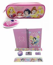 New Disney Princess Stationary Set +  Pencil Pouch for Kids