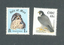 Peregrine Falcon Birds -(2)Isle of Man & Ireland mnh-Birds