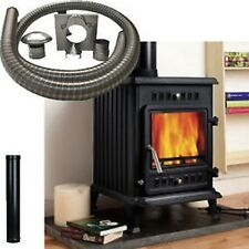 Joule 6 kW Multi Fuel Wood Burning Stove Fire With 6 Metres Installation Kit