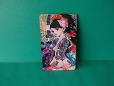 """Super Sexy Naked Anime Girl with Back Tattoo 5""""in x 3""""in Kitchen Magnet Detailed"""