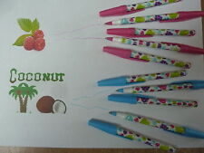 10 PAPERMATE SCENTED PENS - 5 COCONUT  & 5 RASPBERRY.COLOURED INKS