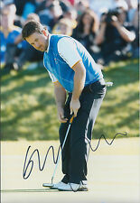 Graeme McDOWELL MBE SIGNED AUTOGRAPH 12x8 Photo AFTAL COA Ryder Cup Celtic Manor