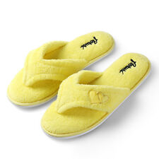 Women's Indoor Slippers Coral Fleece Plush Spa Thong Flipflop House Shoes 5_12