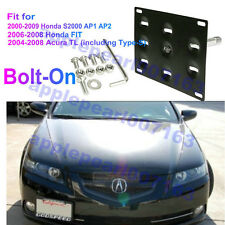 Bumper Tow Hook License Plate Mounting Bracket For Honda S2000 FIT Acura TL New