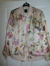 New Look Pink Floral Bomber Jacket size 18 BNWT