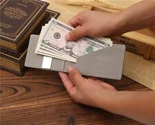 Men Leather Magic Money Clip Slim Wallet ID Credit Card Holder Case Purse Wallet