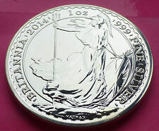 2014 ROYAL MINT BRITANNIA  ' MINT ERROR / MULE ' SILVER  £2 TWO POUND 1oz COIN
