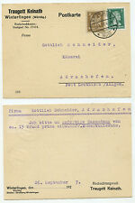 16548 - Postkarte - Winterlingen 26.9.1927 nach Adrazhofen - Emmenthaler Käse