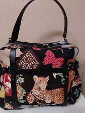 $1,350 SALVATORE FERRAGAMO FIERA ANIMAL JUNGLE LEOPARD BAG HANDBAG PURSE TOTE
